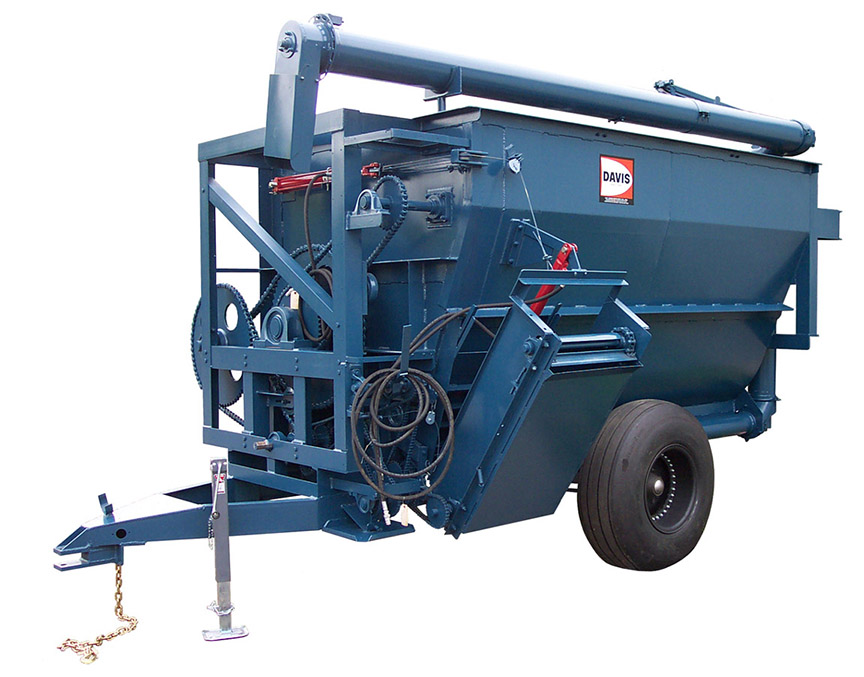 S-60TR-SA Trailer Mounted Mixer with Pivoting Auger